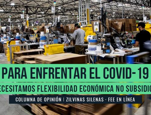 PARA ENFRENTAR EL COVID-19, NECESITAMOS FLEXIBILIDAD ECONÓMICA NO SUBSIDIOS