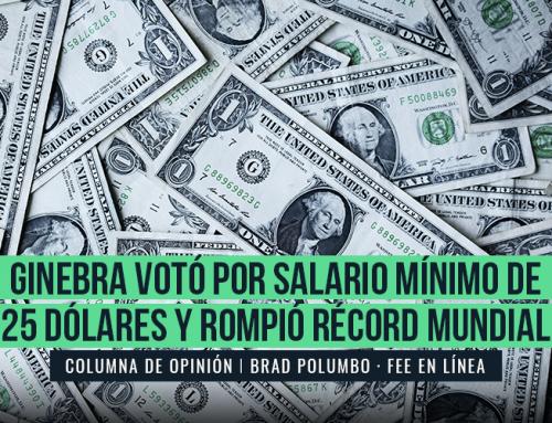 GINEBRA VOTÓ POR SALARIO MÍNIMO DE 25 DÓLARES Y ROMPIÓ RÉCORD MUNDIAL